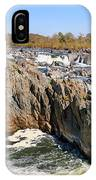 The Great Falls Of The Potomac Panorama IPhone Case