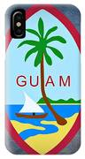 The Great Seal Of Guam Territory Of Usa  IPhone Case
