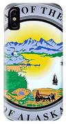 The Great Seal Of The State Of Alaska  IPhone Case