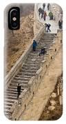 The Great Wall Of China At Badaling - 9 - A Close Up  IPhone Case