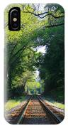 The Green Line Railroad Track Art IPhone Case