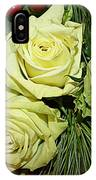 The Green Roses Of Winter IPhone Case