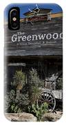 The Greenwood Dancehall And Saloon Bluff Dale Texas IPhone Case
