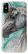 The Grey Arabian Horse 13 IPhone Case