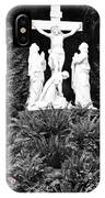 The Grotto - Calvary Scene - Pink Flower IPhone Case