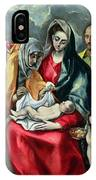 The Holy Family With St Elizabeth IPhone Case