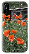 The Inspiration Of Orange Poppies IPhone Case