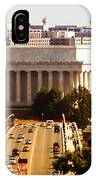The Key Bridge And Lincoln Memorial IPhone Case