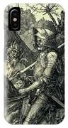 The Knight, Death And The Devil IPhone Case