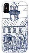 The Lines Of East Point Light In Blue IPhone Case