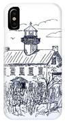The Lines Of East Point Lighthouse In Blue 2 IPhone Case