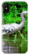 The Little Blue Heron IPhone Case