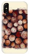 The Log Pile IPhone Case