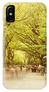 The Mall In Central Park New York City Fall Foliage IPhone Case