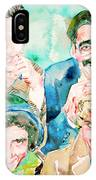 The Marx Brothers / Watercolor Painting IPhone Case