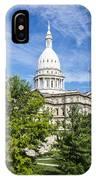 The Michigan Capitol Building IPhone Case