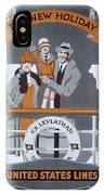 The New Holiday, Vintage Travel Poster IPhone Case