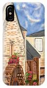 The Old French Mill Watercolor Art Prints IPhone Case