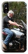 The Old Man On The Motorcycle IPhone Case