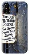 The Old Pilchard Press IPhone Case