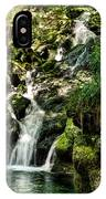 The Old Troll Caught By The Sun Admiring The Forest Waterfall IPhone Case
