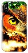 The Owl's Eye IPhone Case
