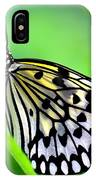 The Paper Kite Or Rice Paper Or Large Tree Nymph Butterfly Also Known As Idea Leuconoe IPhone Case
