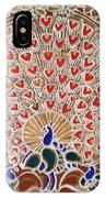 The Peacock Dance IPhone Case