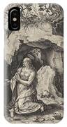 The Penitent Mary Magdalene, Antonie Wierix II IPhone Case