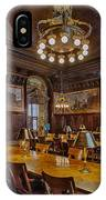 The Periodical Room At The New York Public Library IPhone Case