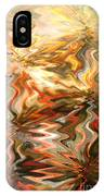 Gray And Orange Peaceful Abstract Art IPhone Case