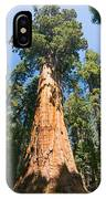 The President - Very Large And Old Sequoia Tree At Sequoia National Park. IPhone Case