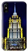 The Raddison-stalin's Wedding Cake Architecture-in Moscow-russia IPhone Case