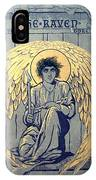 The Raven By Edgar Allan Poe Book Cover IPhone Case