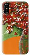The Red And Green Vase IPhone Case
