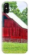 The Red Barn - Featured In Old Buildings And Ruins Group IPhone Case