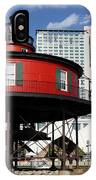 The Red Beacon From Baltimore Harbor IPhone Case