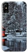 The Red Boathouse - Old Forge Ny IPhone Case