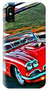 The Red Corvette IPhone Case