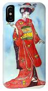 The Red Kimono IPhone Case