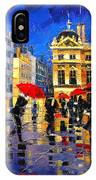 The Red Umbrellas Of Lyon IPhone Case