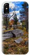 The Rocks Above Eagle Bay IIi IPhone Case