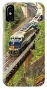 The Rocky Mountaineer Above The Cheakamus River IPhone Case
