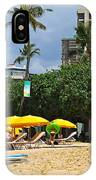 The Scene At Waikiki Beach IPhone Case