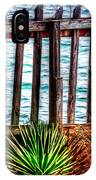 The Sea Fence Siesta Key Fla. IPhone Case