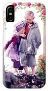 Watercolor Of A Boy And Girl In Their Secret Garden IPhone Case