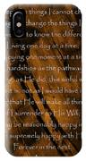 The Serenity Prayer IPhone Case