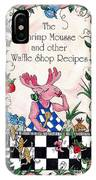 The Shrimp Moose And Other Waffle Shop Recipes Cookbook Calvary Church Memphis Tn IPhone Case