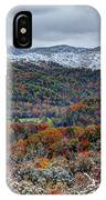 The Snow Began To Fall IPhone Case