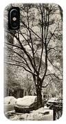 The Snow Tree - Sepia Antique Look IPhone Case